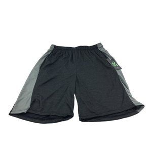 Men's Real Essentials Black And Gray Shorts Size M